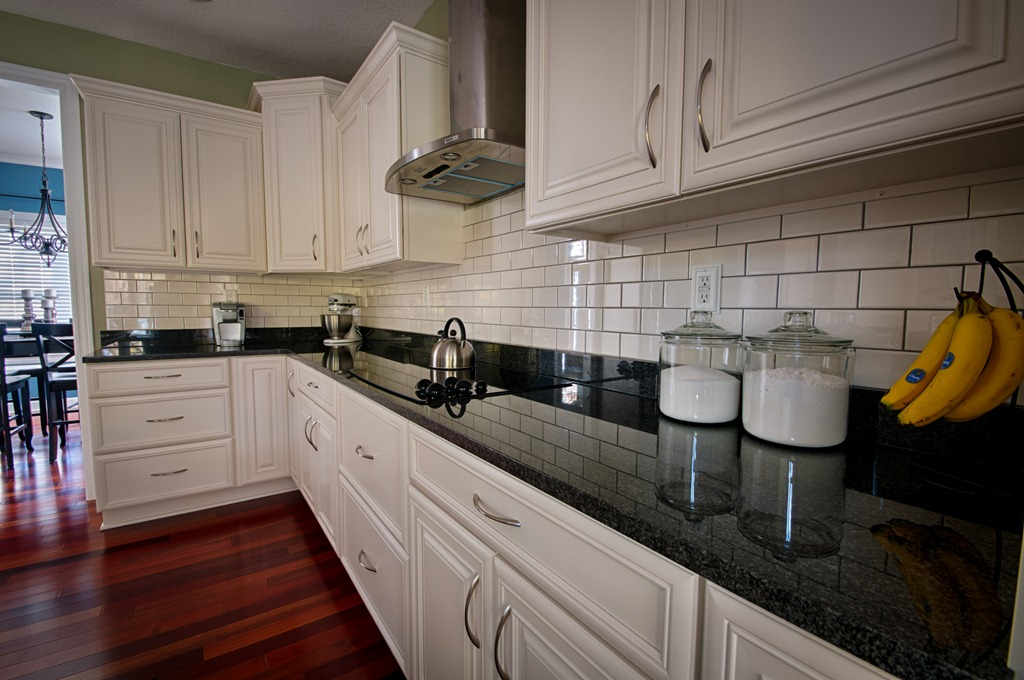 Featured DIY Blog: Decor and the Dog - Pfister Faucets ... on Backsplash For Black Countertops  id=56912
