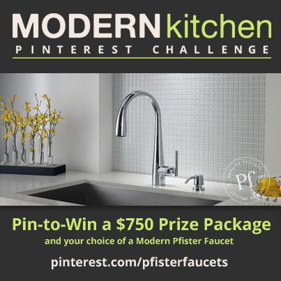 Pfister Modern Kitchen Pinterest Challenge