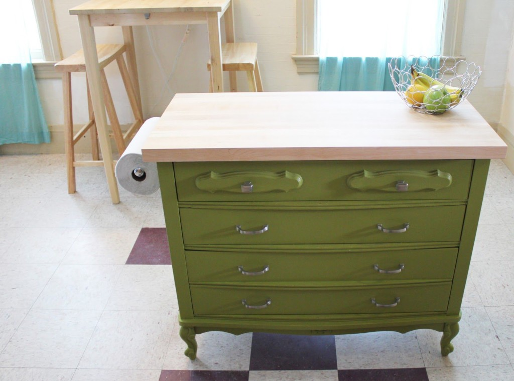 dresser kitchen island upcycling give new life to old furniture pfister faucets kitchen bath design blog 3752