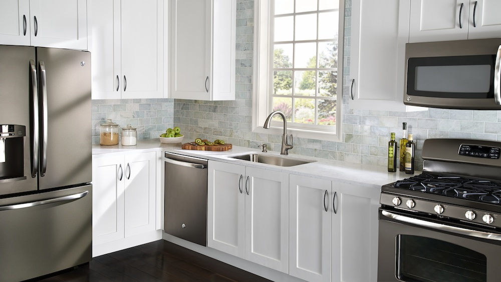 Delectable White Kitchen Cabinets Slate Floor Gallery Win A Dream Slate Kitchen Pfister Faucets Kitchen Bath Design