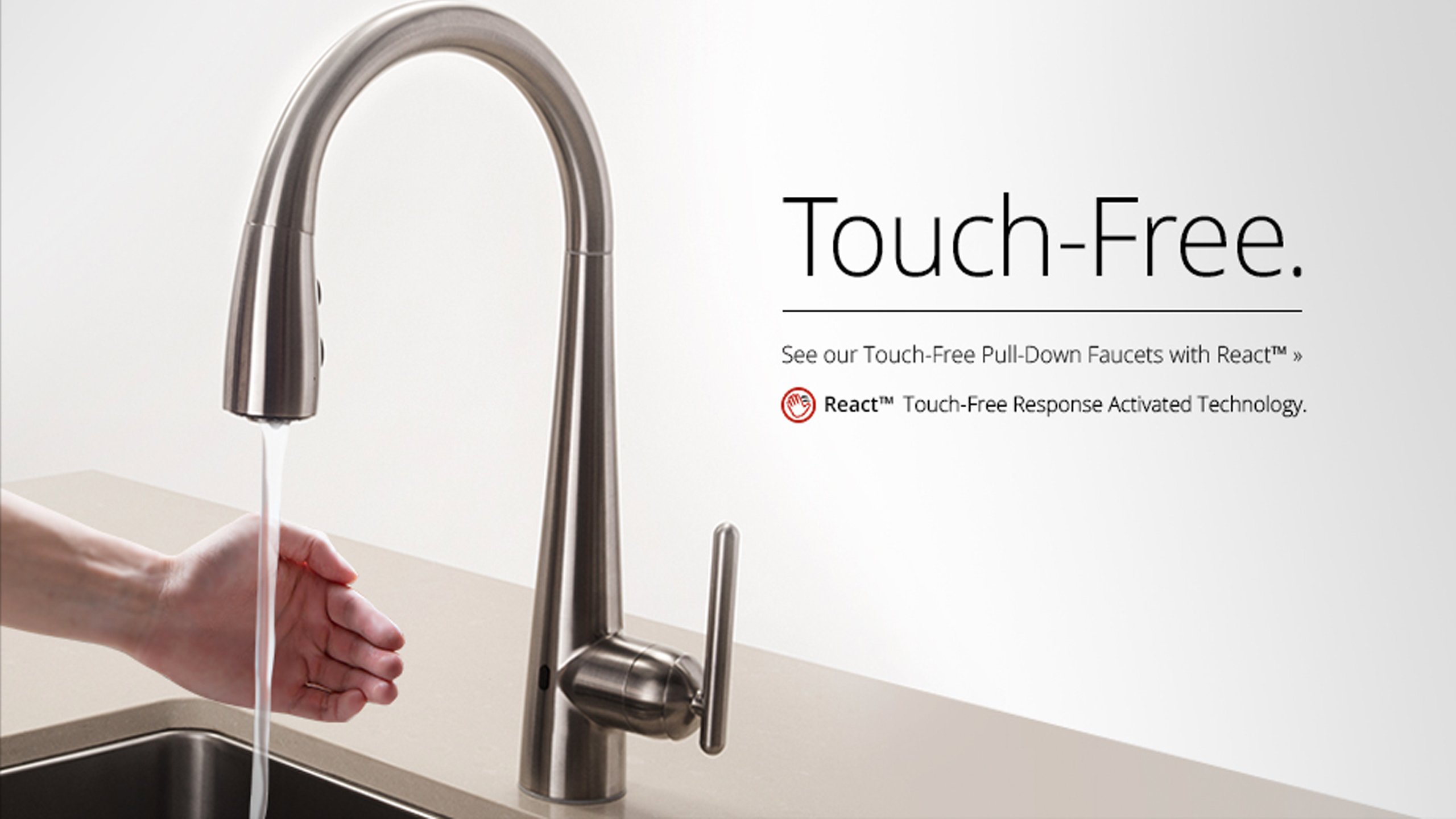 Pfister REACT Touch-Free Faucet - Pfister Faucets Kitchen & Bath ...
