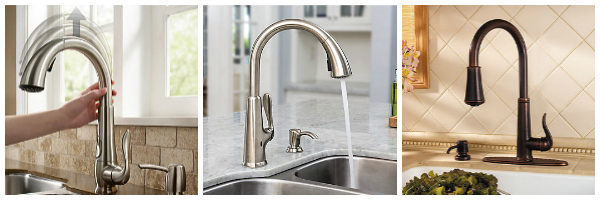 elevate pulldown kitchen faucet touchfree pasadena kitchen faucet with react - Pfister Faucets