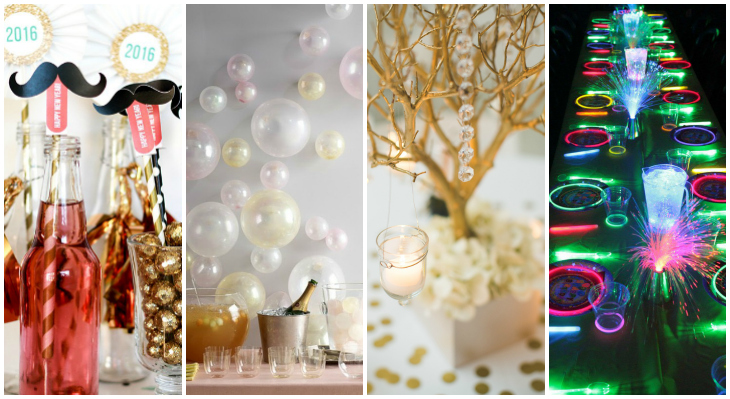 Take a look at few rally-worthy New Year's themed tablescapes that can be put together for less than $50.00