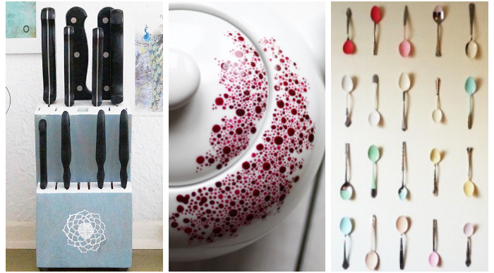 Up-Cycled to Art: 3 DIY Painting Projects for the Kitchen