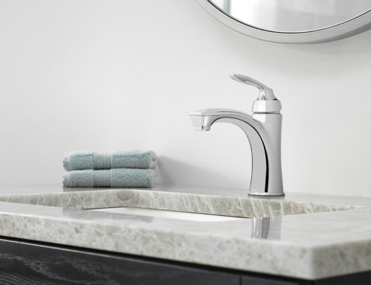 With smooth and sleek curves reminiscent of a seaside escape, it's no wonder the Avalon Collection is the perfect complement to any bath.