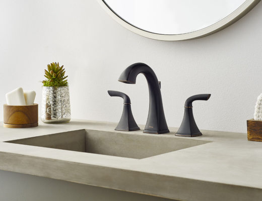 The Bronson Collection for the bath showcases both square angles and graceful curves that rightfully stand out as singular eye-catching elements, yet work together to create a cohesive whole. - See more at: http://blog.pfisterfaucets.com/the-bronson-bath-faucet/#sthash.02ZiAVNj.dpuf