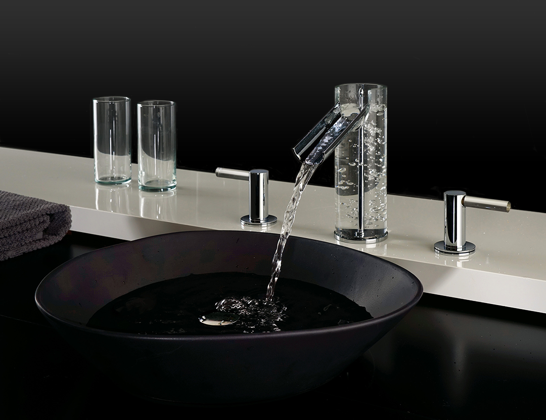 The UFFIZI Collection Of Faucets By FORTIS (exclusively Distributed By  Pfister) Delivers U201cclear Luxuryu201d Through The Use Of Handcrafted Italian  Glass, ...