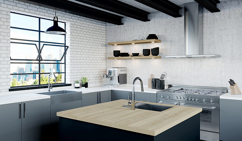 Modern Industrial Design - Pfister Faucets Kitchen & Bath Design Blog