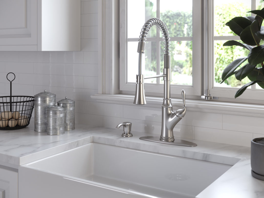 Merveilleux The Orono 1 Handle Pull Down Culinary Kitchen Faucet Is A Nod To The  Commercial Style Faucets Seen In Most Working Restaurant Kitchens.